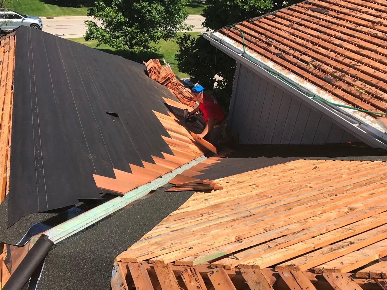 cedar roof installation