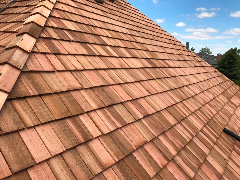 Cedar shake roofs sometime sustain damage
