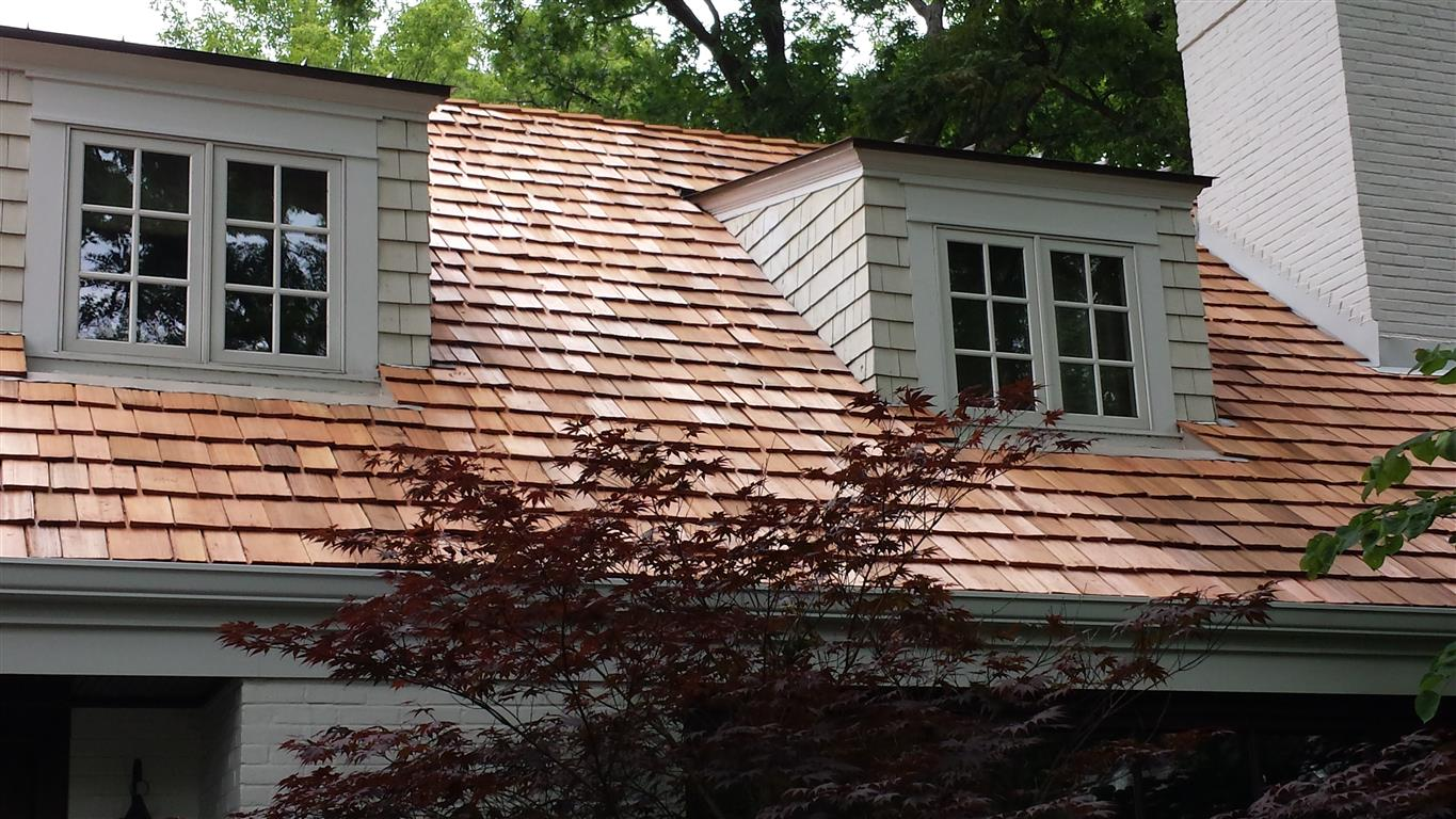 Cedar roofing installation in Barrington IL