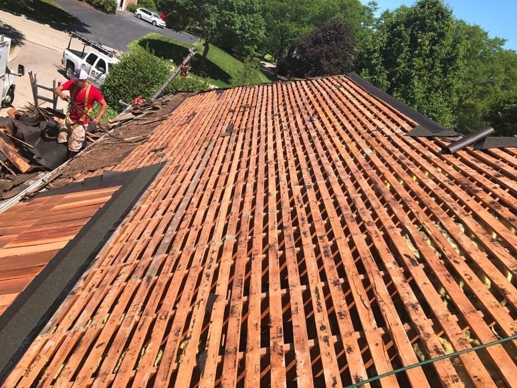 After installation your cedar roof will need care