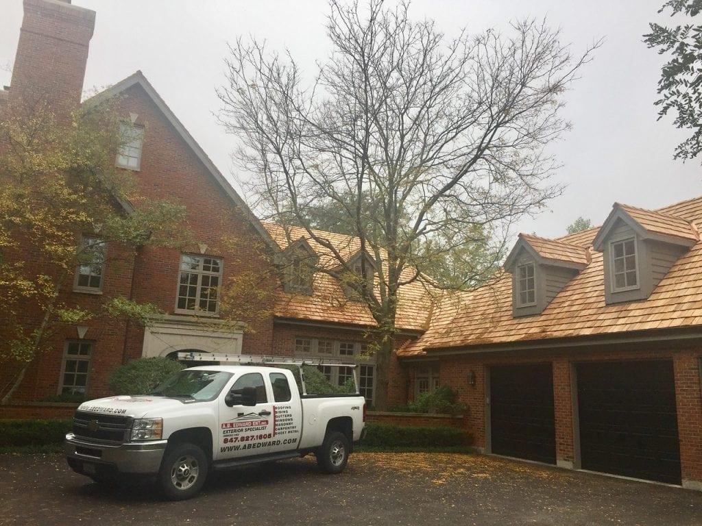 Glencoe IL Cedar Roof Installation