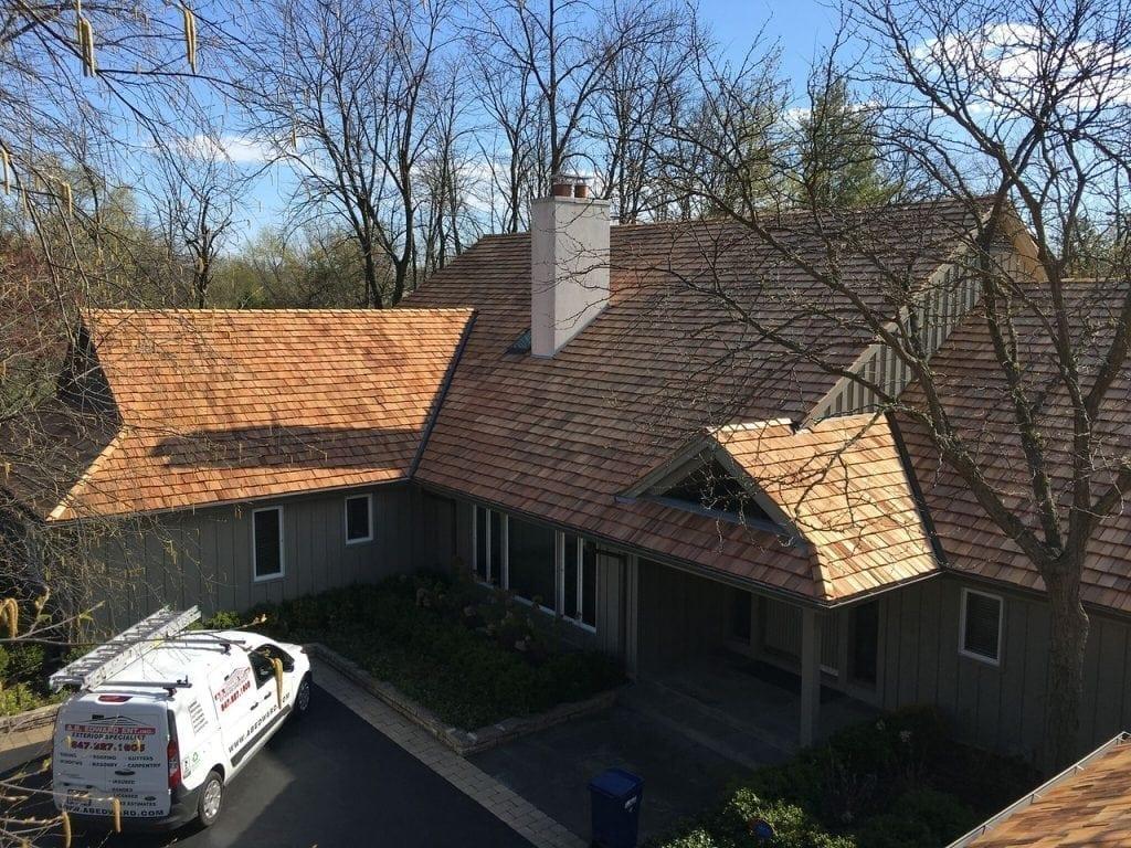Highland Park Cedar Roof Installation