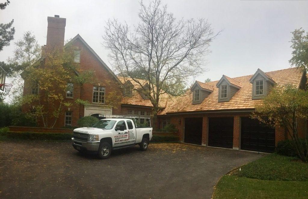 Cedar roofing installation near Wilmette IL