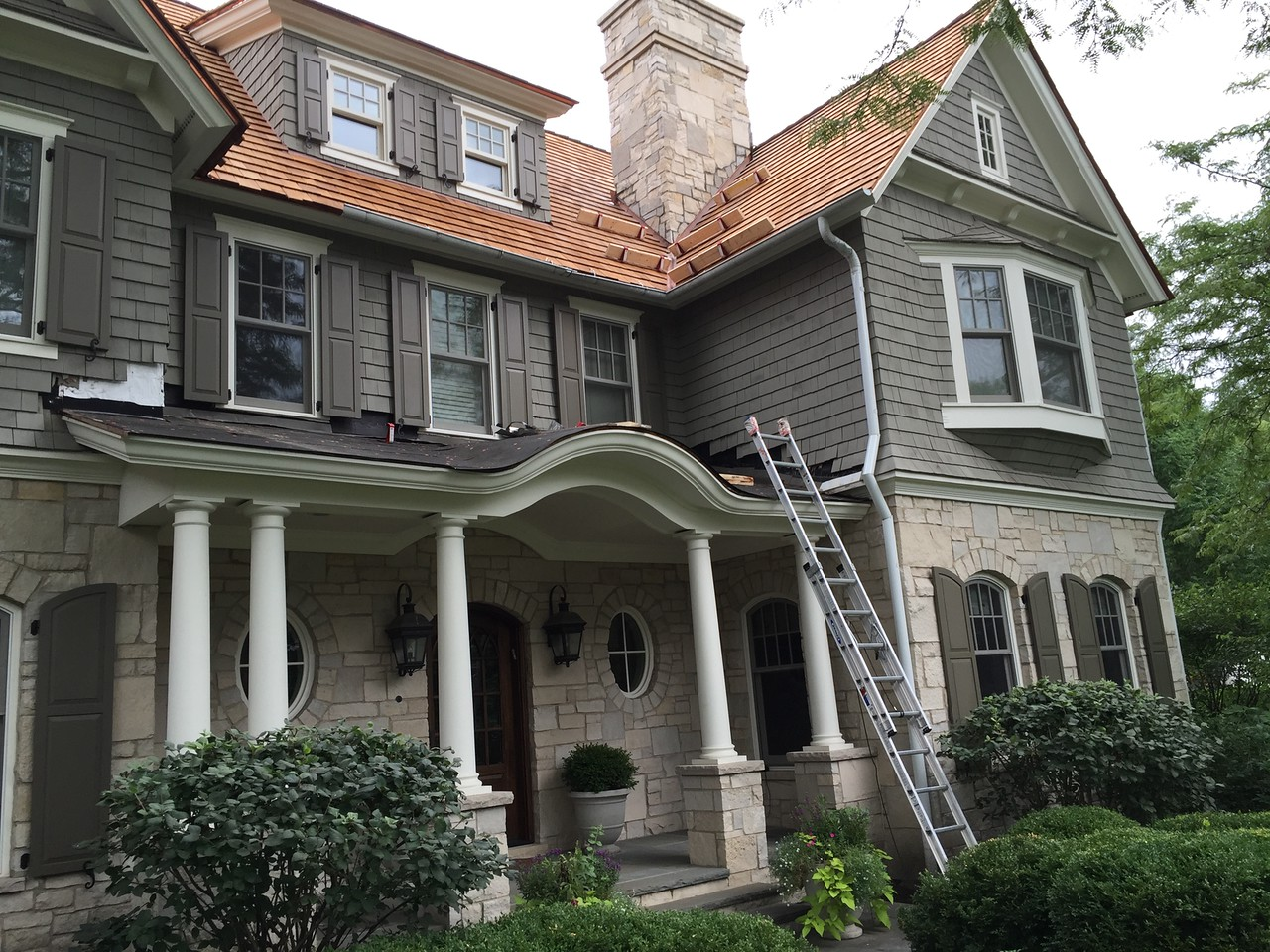Maintenance is required for cedar roofing in Des Plaines IL