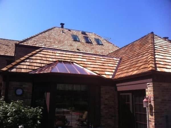 Cedar roofing installation