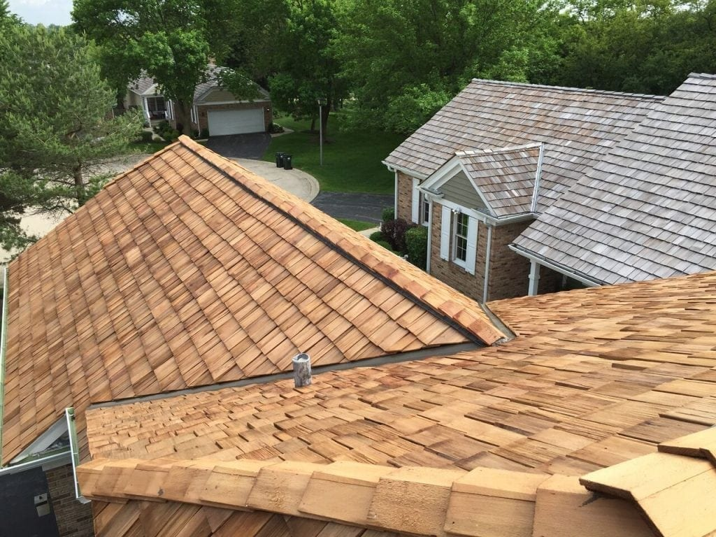 With proper cedar roofing maintenance your roof can look like this for years