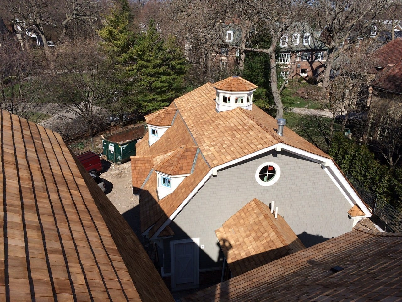 Cedar roof curling