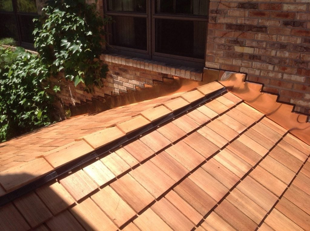 Energy efficient cedar roofing