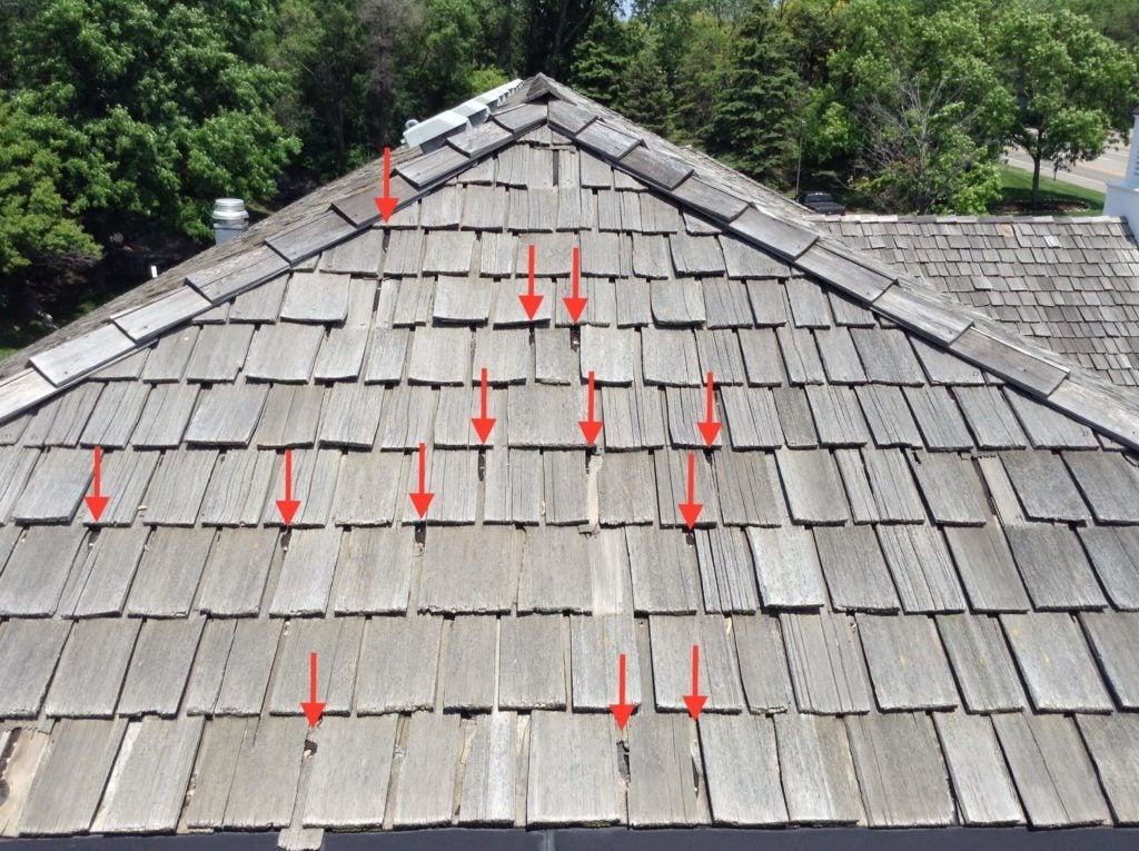 How do you repair a cedar shingle roof?