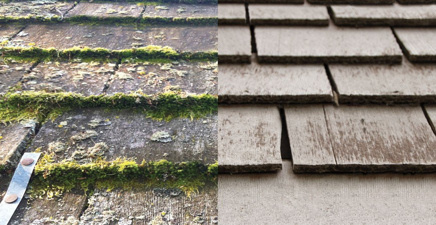 How To Remove Moss From Cedar Roofing Shingles